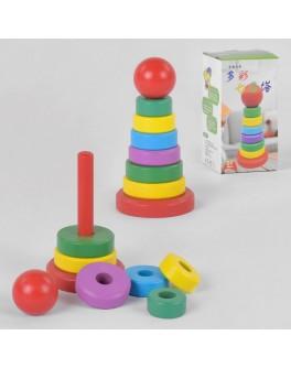Дерев'яна іграшка Пірамідка 15 см (С 39392)
