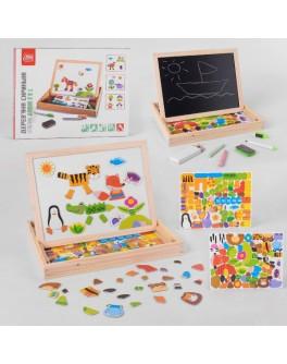 Магнітна мозаїка з двосторонньою дошкою Fun Game Тварини (99183)