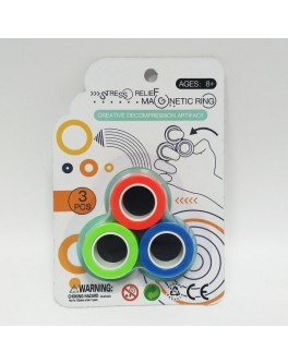 Магнітні кільця іграшка-антистрес Magnetic Ring 3 шт (8855)