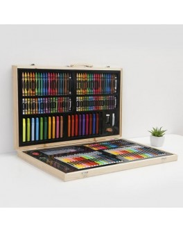 Художній набір для малювання Kid's Art Set 188 предметів в валізі Super Mega Art Set (188pc)