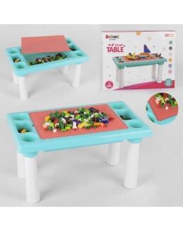 Ігровий набір столик з конструктором, 300 деталей, двостороння поверхня (9182)