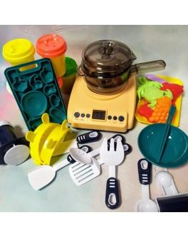 Кухня дитяча Beiwings з парою, плита, посудка, з тістом для ліплення (199-1 B)