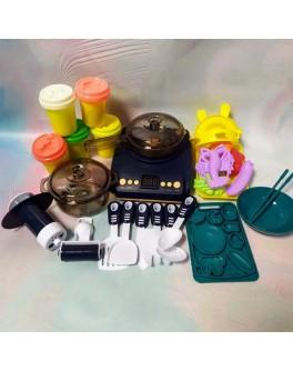 Кухня дитяча Beiwings з парою, плита, посудка, з тістом для ліплення (199-2 B)