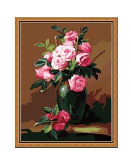 Роспись по холсту по номерам Букет чайных роз - MLT mg174