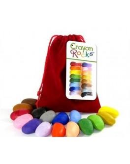 Восковые мелки в бархатном мешочке 16 шт. Crayon Rocks - sand CR16C