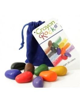 Восковые мелки в бархатном мешочке 8 шт. Crayon Rocks - sand CR8C