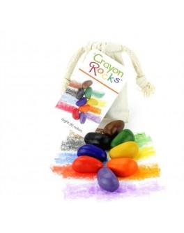 Восковые мелки в хлопковом мешочке 8 шт. Crayon Rocks - sand CR8