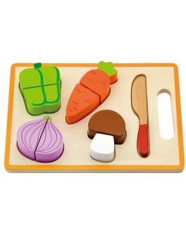 Деревянная игрушка Viga Toys Набор юного повара Овощи на липучках (50979)