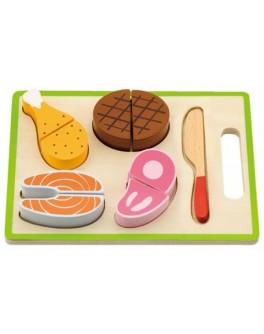 Деревянная рамка с продуктами на липучках Пикник Viga Toys (50980)