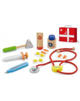 Деревянная игрушка Viga Toys Чемоданчик доктора (50530)