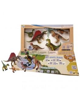 Обучающий игровой набор с QR-картой Wenno Хищные Динозавры (WCD1701) - KDS WCD1701