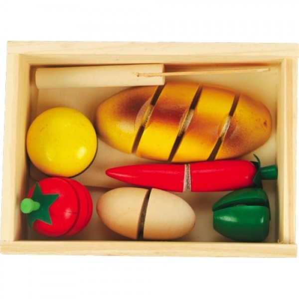 Деревянный набор продуктов на липучках Готовим завтрак - малый, Мди - Der 167