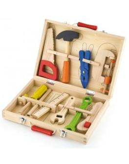 Деревянный набор инструментов Viga Toys 10 шт. (50387)