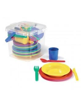 Набор посуды в корзинке - kklab 41408