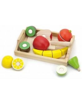 Деревянная рамка с продуктами на липучках Viga Toys Фрукты (58806)