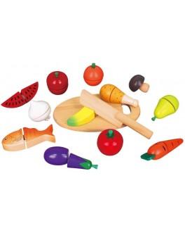 Деревянные продукты на липучках Viga Toys (59560)