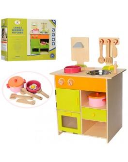 Деревянная кухня с мойкой (MSN13025)