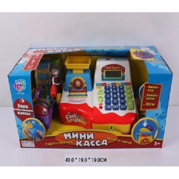 фото Детский кассовый аппарат, микрофон, сканер, весы, чек 7162 - ves 7162