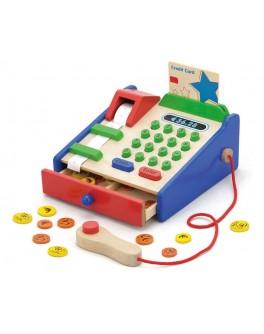Деревянная игрушка Viga Toys Детский кассовый аппарат с чеком (59692) - afk 59692