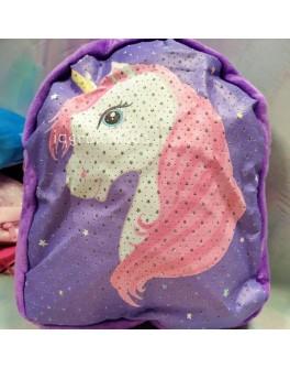 М'який плюшевий дошкільний дитячий рюкзак Єдиноріг (С 37867)