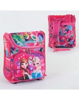 Рюкзак шкільний каркасний Анна та Ельза Холодне серце 1 відділення, 3 кишені, спинка ортопедична, 3D зображення (С 36177)
