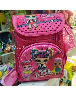 Рюкзак шкільний каркасний L.O.L. з 3D принтом, 1 відділення, 3 кишені, ортопедична спинка (С 43647)