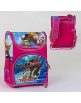 Рюкзак шкільний каркасний Моана 1 відділення, 3 кишені, спинка ортопедична, 3D принт (C 36167)