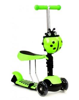 Детский трехколесный самокат Best Scooter 3в1 (руль 63-72 см)