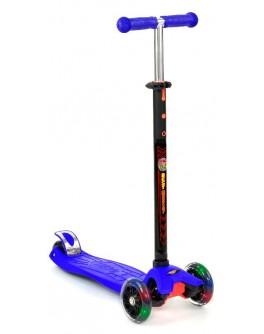 Самокат трехколесный Best Scooter maxi светящиеся колёса (руль 67-90 см)