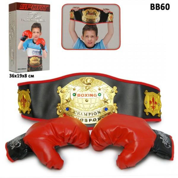 Боксерский набор перчатки, пояс.  BB60 - VES BB60