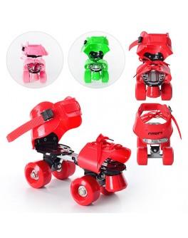 Детские квадровые роликовые коньки Profi Roller MS 0037 |стелька 19 см - mpl MS 0037
