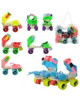 Детские квадровые роликовые коньки Profi Roller MS 0053 | размер 16-21 - mpl MS 0053