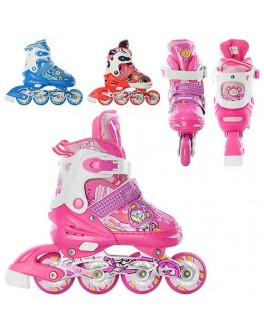 Детские раздвижные ролики любительские A3066S | размер 31-34 | 3 цвета - mpl A 3066 S