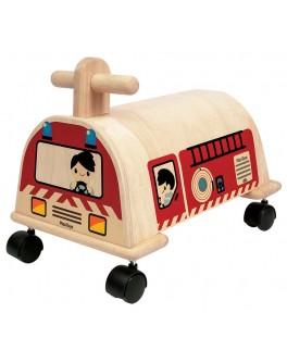Деревянная каталка Пожарная машина Plan Toys (3474) - plant 3474