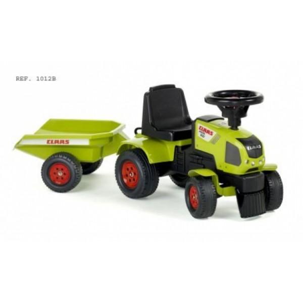 Трактор-каталка Claas AXOS зеленый с прицепом - KKlab 1012B