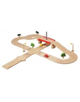 Деревянная дорога Дорожная система Plan Toys (6078)