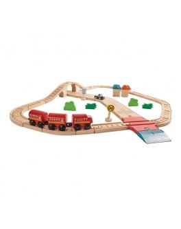 Деревянная игрушка Автомобильная и железная дорога PlanToys (6608) - plant 6608