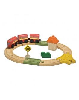 Деревянная игрушка Овальная железная дорога PlanToys (6604)