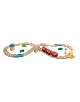 Деревянная игрушка Железная дорога в виде восьмёрки PlanToys (6605)