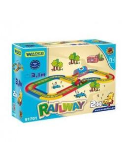 Железная дорога, 3,1 м Kid Cars, в кор. 40х30 см, ТМ Wader 51701 - VES 51701