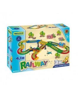 Железная дорога, 4,1 м Kid Cars, в кор. 60х40 см, ТМ Wader 51711 - VES 51711