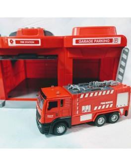 Ігровий набір Гараж Пожежна машина CLM Engineering Caller Garage (CLM-551)