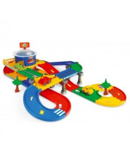 Гараж с трассой (5,5м) Kid Cars 3D, в кор. 80х54 см, ТМ Wader 53130 - VES 53130