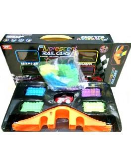 Конструктор Гоночная трасса Fluorescent Rail Cars - Magic Tracks, 165 деталей