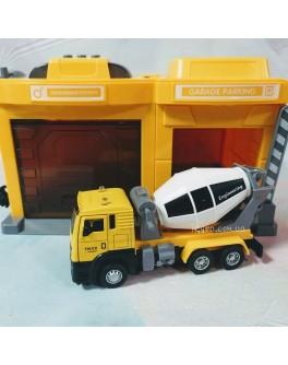 Ігровий набір Гараж з бетономішалкою CLM Engineering Caller Garage (CLM-553)