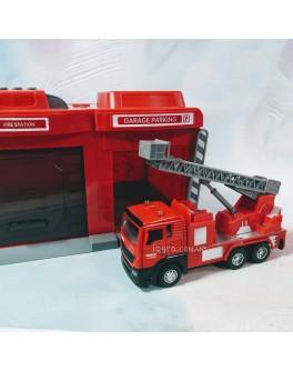 Ігровий набір Гараж Пожежна машина з драбиною CLM Engineering Caller Garage (CLM-551)