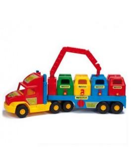 Мусоровоз Super Truck 79х28 см, ТМ Wader 36530 - VES 36530