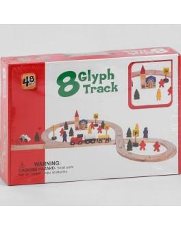 Залізниця дерев'яна 48 елементів, потяг на магнітах (C 44905)