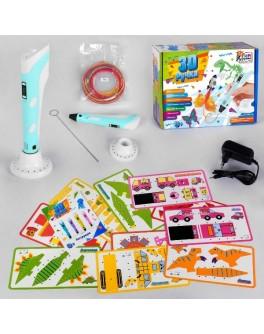 3D ручка для дітей + шаблони, блакитна Набір для творчості Fun Game (60484)