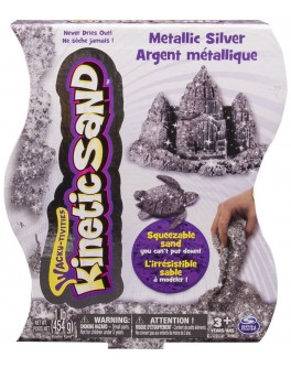 Кинетический песок серебро 454 грамм, Wacky Tivities